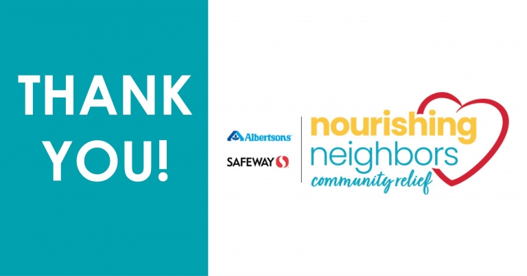 THANK YOU to Safeway and Albertson's Foundation: ARC Receives $13,469 Grant to Provide Healthy Meals for Hungry Kids in Seattle